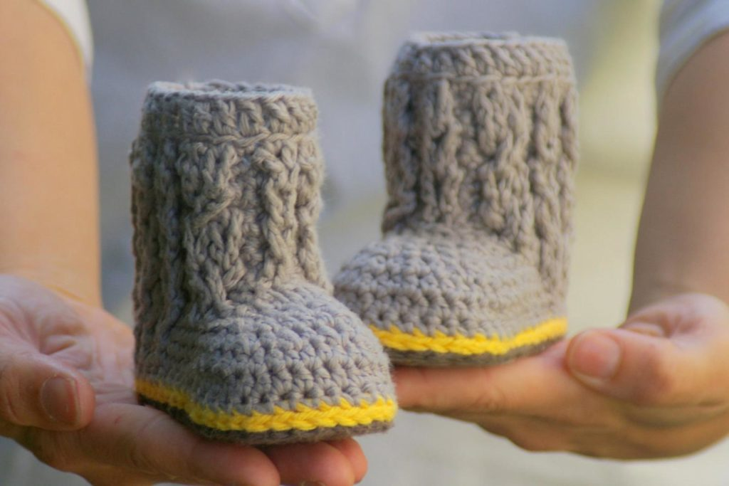 Crochet Cable Boots