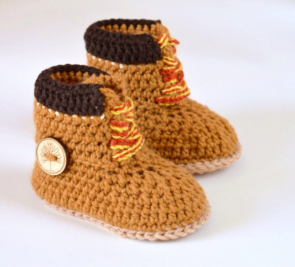 Baby Crochet Construction Boots