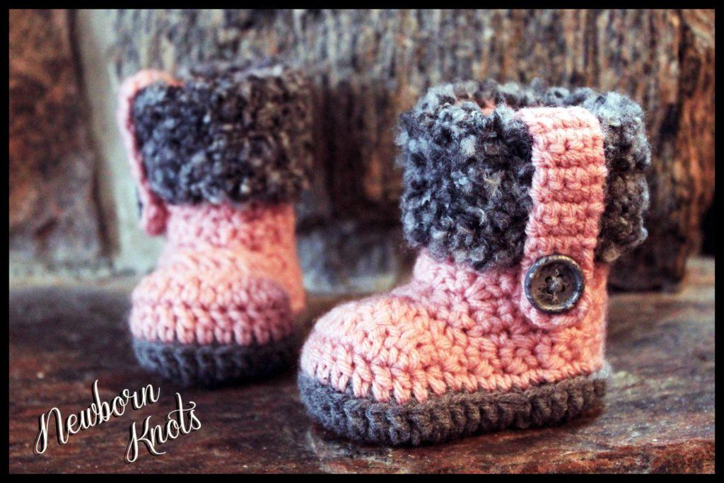 Crochet Fur Baby Boots