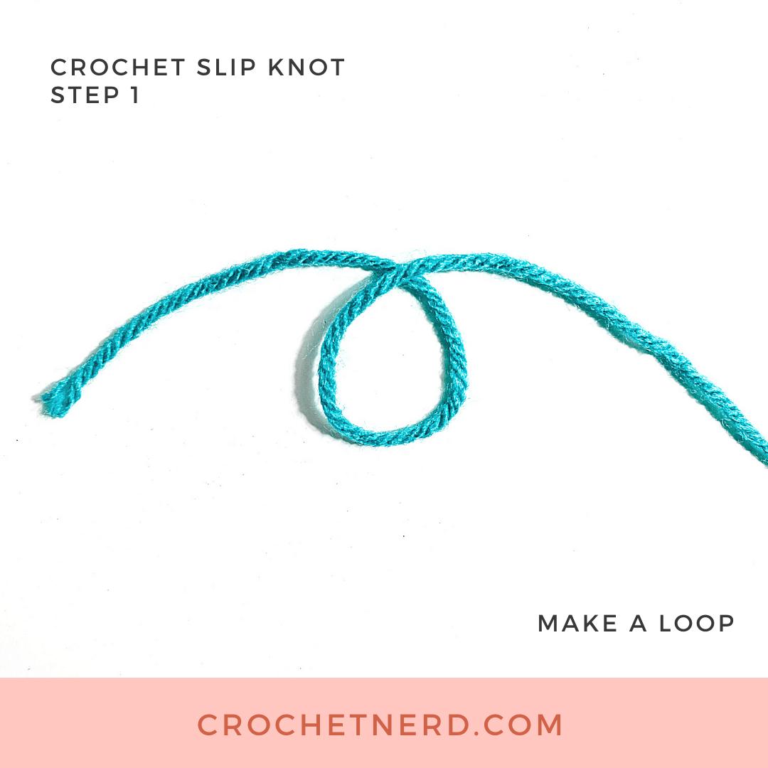 Crochet Slip Knot Step 1