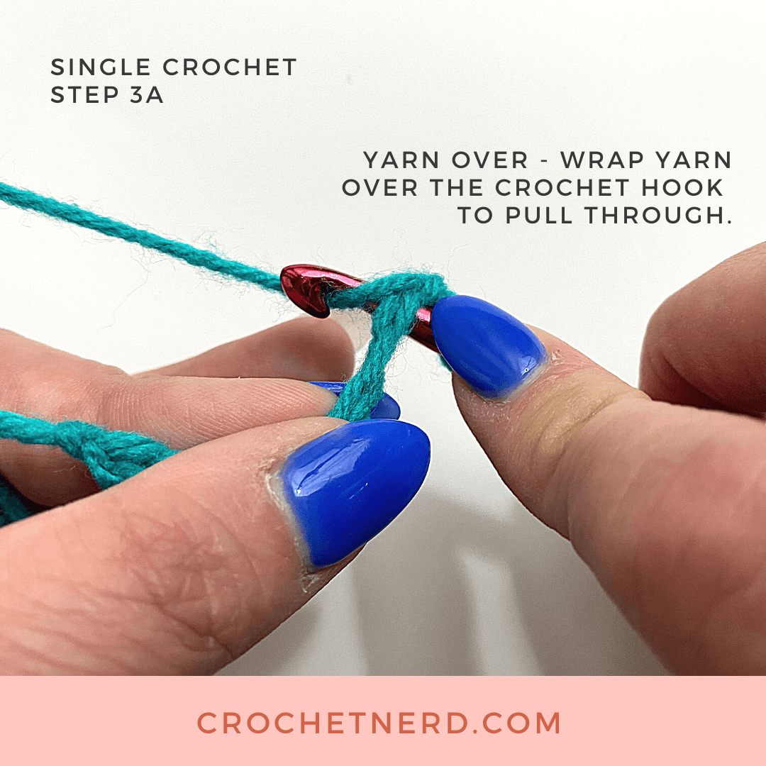 Single Crochet Step 3A