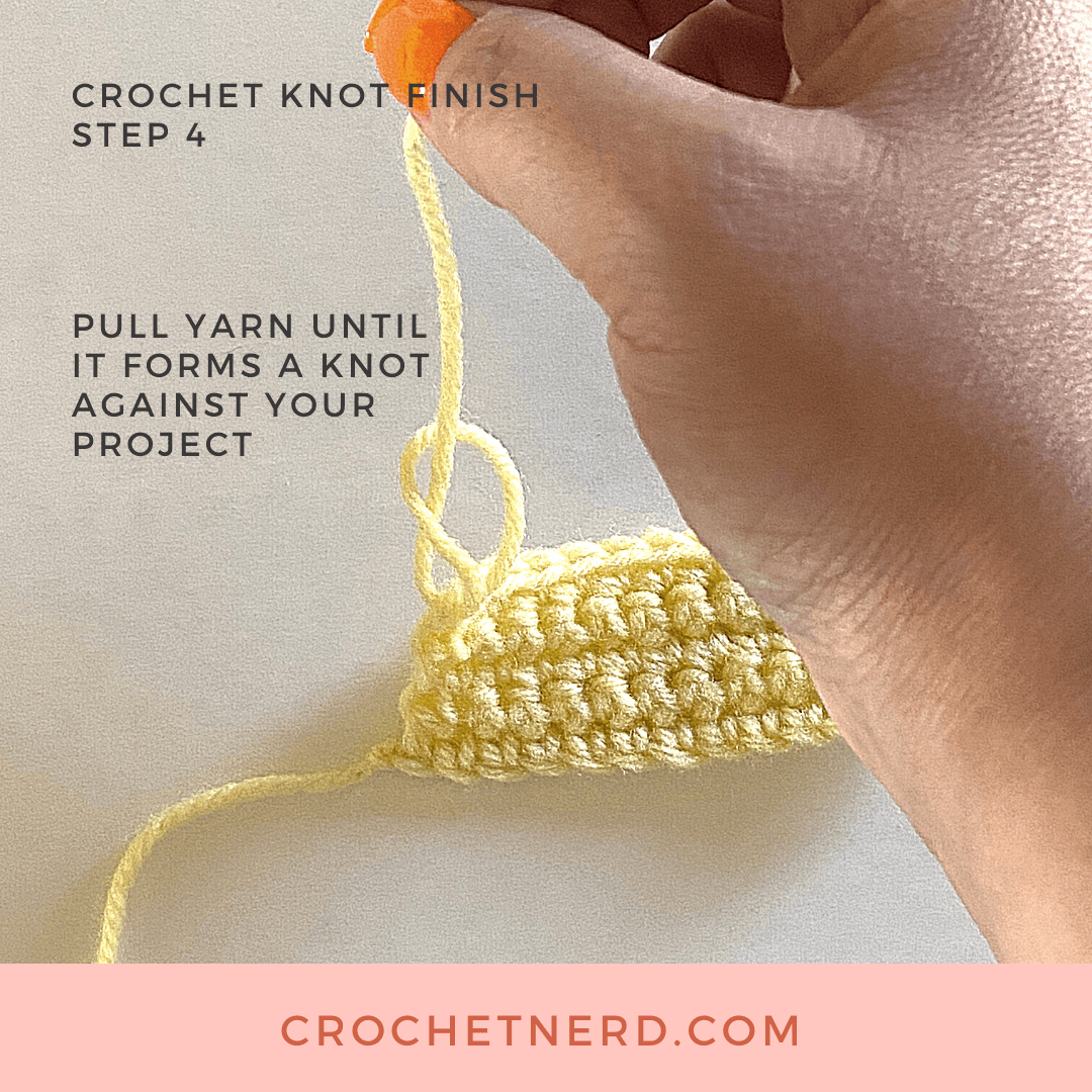 crochet finish step 4