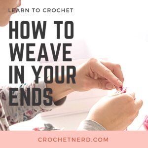 How to weave in your crochet ends